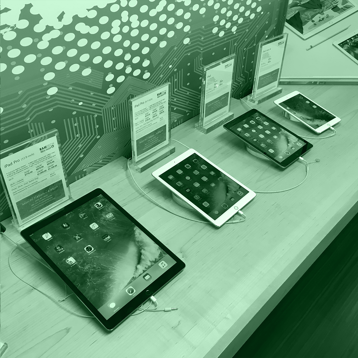 photo of tablets in RAMtech
